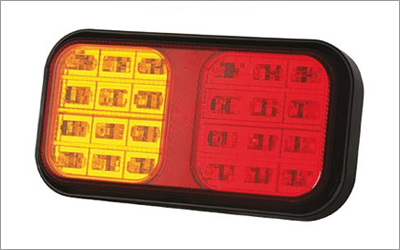 Rear lights for farm machinering